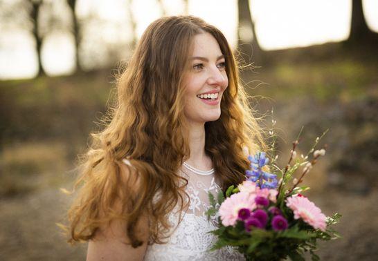 Braut im Wald – gesehen bei frauimmer-herrewig.de