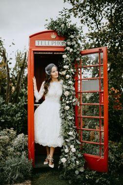 Telefonzelle für Hochzeitsfotos - Foto: ©ohlucywedding – gesehen bei frauimmer-herrewig.de