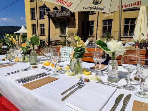 Außenbereich der Schlosseria – gesehen bei frauimmer-herrewig.de