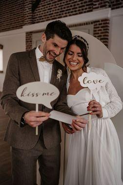 Fotobox für die Hochzeit – gesehen bei frauimmer-herrewig.de