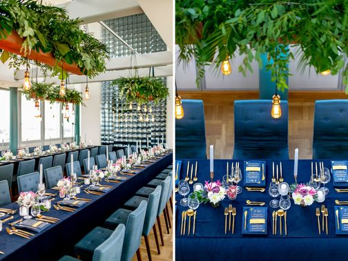 8 Sagt Ja Agentur fuer Hochzeitsplanung Hochzeitsdeko blau gold Foto Hanna Witte Hochzeitsreportagen – gesehen bei frauimmer-herrewig.de