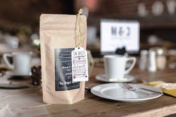Kaffeeroesterei Mahou Beispiel Etikett – gesehen bei frauimmer-herrewig.de