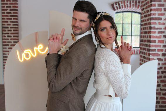 Fotobox auf der Hochzeitsparty – gesehen bei frauimmer-herrewig.de