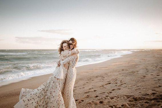 Brautkleider Vintage Hochzeit Strandbild – gesehen bei frauimmer-herrewig.de