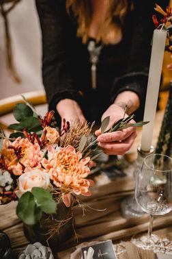 Blumendeko Hochzeit – gesehen bei frauimmer-herrewig.de