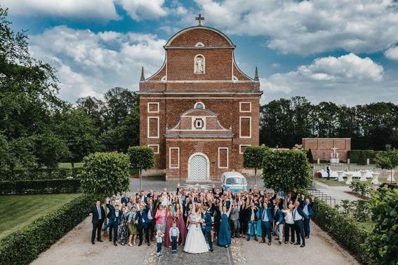 Gruppenfoto Hochzeitsgäste – gesehen bei frauimmer-herrewig.de
