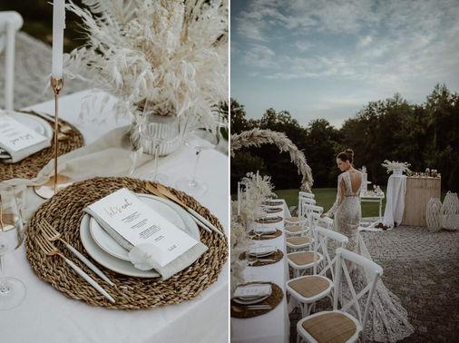 Tischdeko weiss natur Hochzeit Koko Photography – gesehen bei frauimmer-herrewig.de