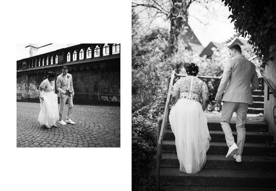 Braut und Bräutigam auf Treppe – gesehen bei frauimmer-herrewig.de