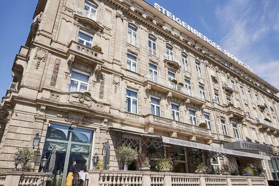 Außenansicht Steigenberger Parkhotel Düsseldorf – gesehen bei frauimmer-herrewig.de