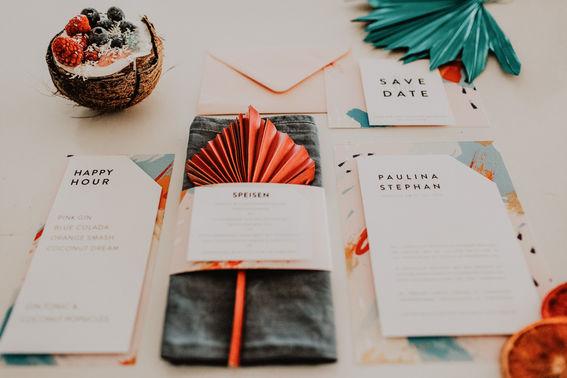 Hochzeitseinladung individuell farbe color palmenwedel summerwedding fawntastique min – gesehen bei frauimmer-herrewig.de