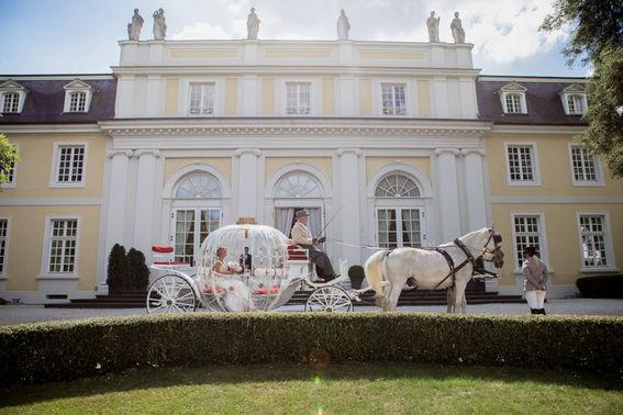 Mit Pferdekutsche zur Hochzeit – gesehen bei frauimmer-herrewig.de
