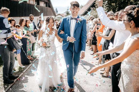 Empfang des Brautpaars – gesehen bei frauimmer-herrewig.de
