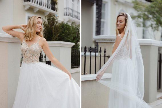 Brautkleid CALISTO Designerin Michele Weiten – gesehen bei frauimmer-herrewig.de
