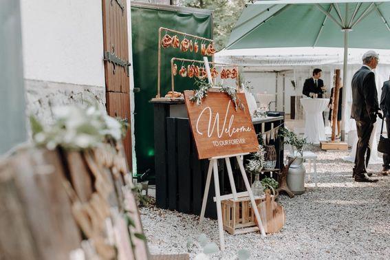 Brezel auf der Hochzeit – gesehen bei frauimmer-herrewig.de