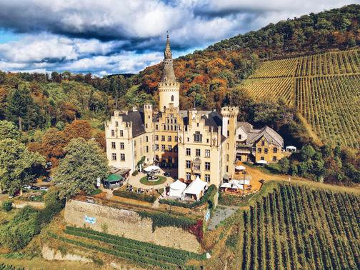 Schloss Arenfels in den Weinbergen – gesehen bei frauimmer-herrewig.de