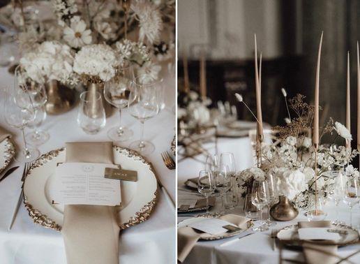 Elegante Tischdeko Boho Hochzeit – gesehen bei frauimmer-herrewig.de