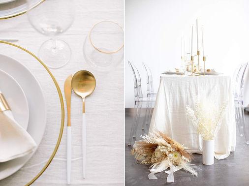 Hochzeitsdeko weiß gold - madeleineundmarkus – gesehen bei frauimmer-herrewig.de