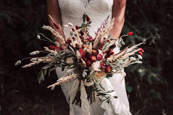 Brautstrauß im Boho-Style – gesehen bei frauimmer-herrewig.de
