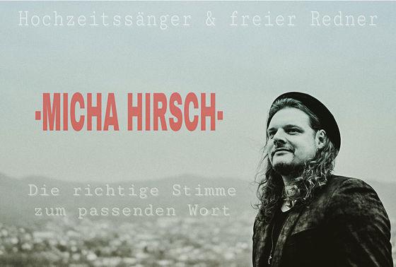 Micha Hirsch Hochzeitssaenger und freier Redner – gesehen bei frauimmer-herrewig.de