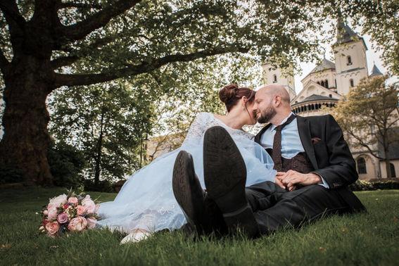 Hochzeitsfotos Brautpaar – gesehen bei frauimmer-herrewig.de