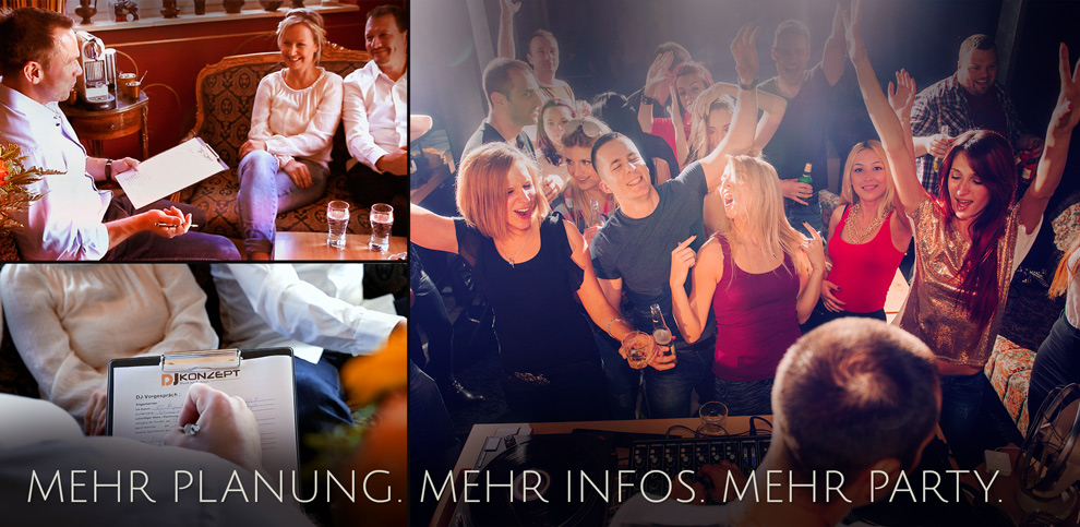 Mehr Planung Mehr Infos Mehr Party