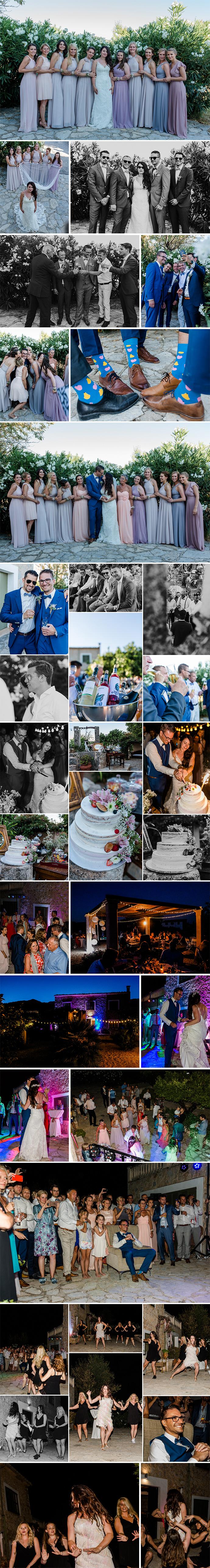 Heiraten EXKLUSIV Gruppenfotos Hochzeitstorte Party
