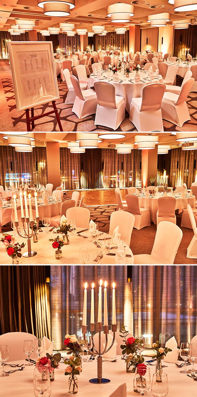 Ballsaal Hochzeitsfeier Steigenberger Koeln