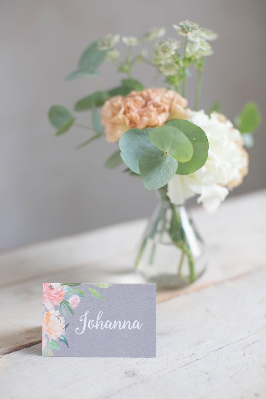 Marry paper hochzeitspapeterie hochzeitskarten cotton rose platzkarte 4224