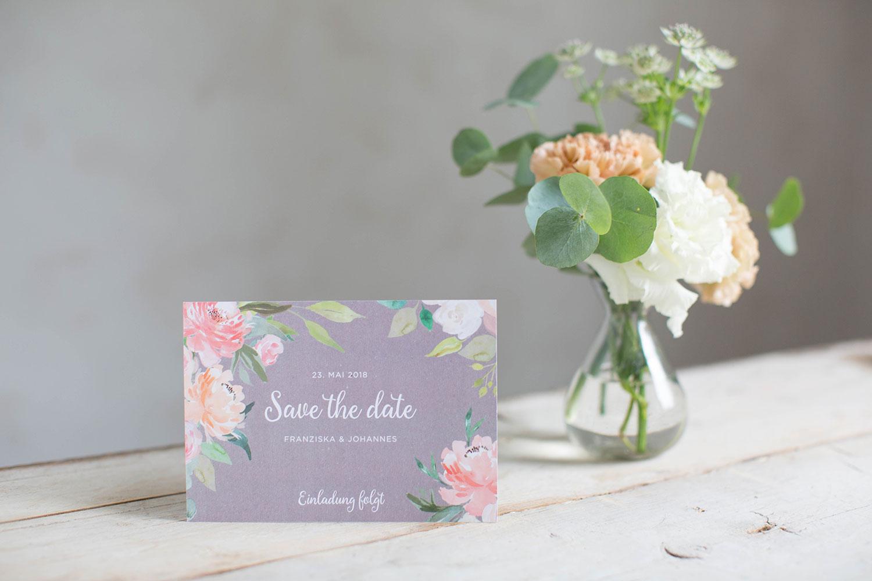 Marry paper hochzeitspapeterie hochzeitskarten cotton rose save the date 4177