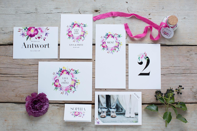Marry paper hochzeitspapeterie hochzeitskarten rose marry uebersicht 4401