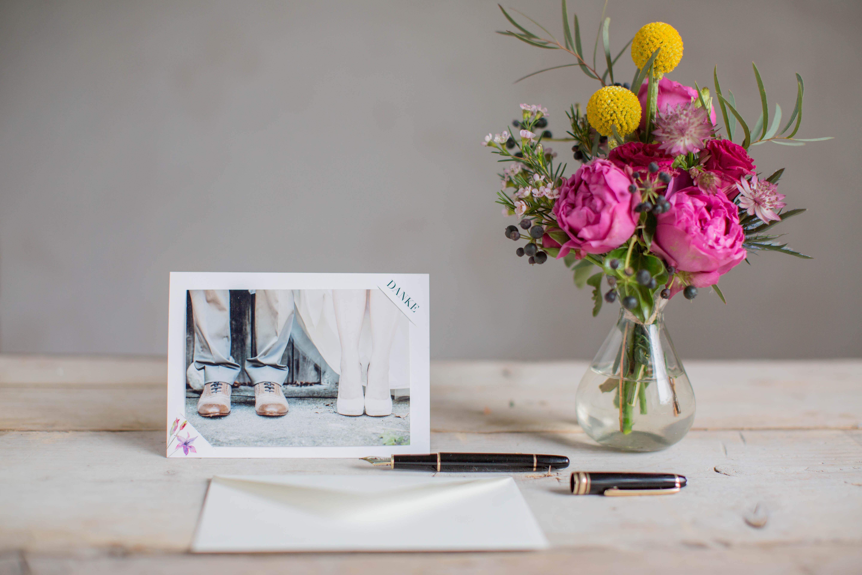 Marry paper hochzeitspapeterie hochzeitskarten rose marry dankeskarte 4304