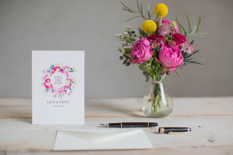 Marry paper hochzeitspapeterie hochzeitskarten rose marry save the date 4315