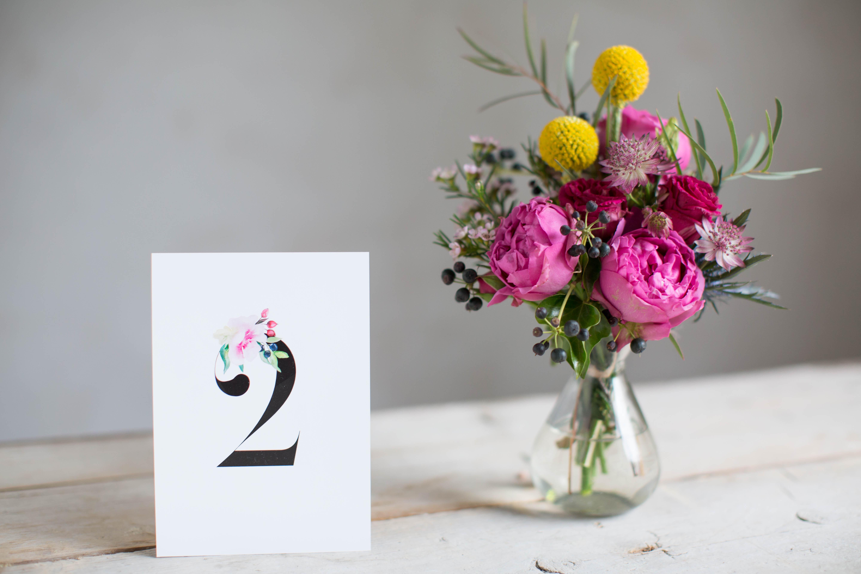 Marry paper hochzeitspapeterie hochzeitskarten rose marry tischnummer 4274