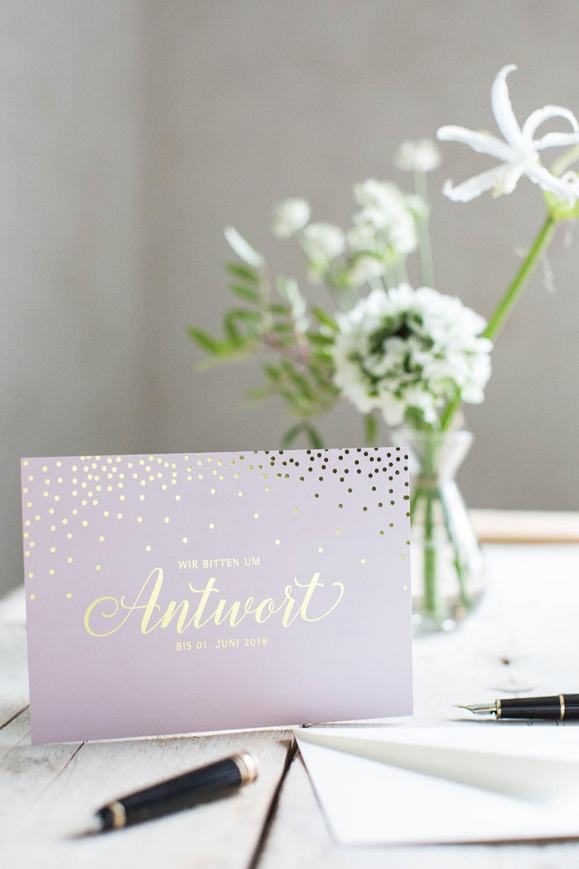 Marry paper hochzeitspapeterie hochzeitskarten sparkle n shine antwortkarte 3965