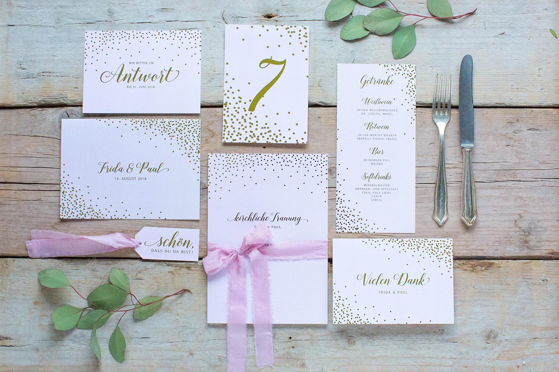 Marry paper hochzeitspapeterie hochzeitskarten sparkle n shine uebersicht 4387