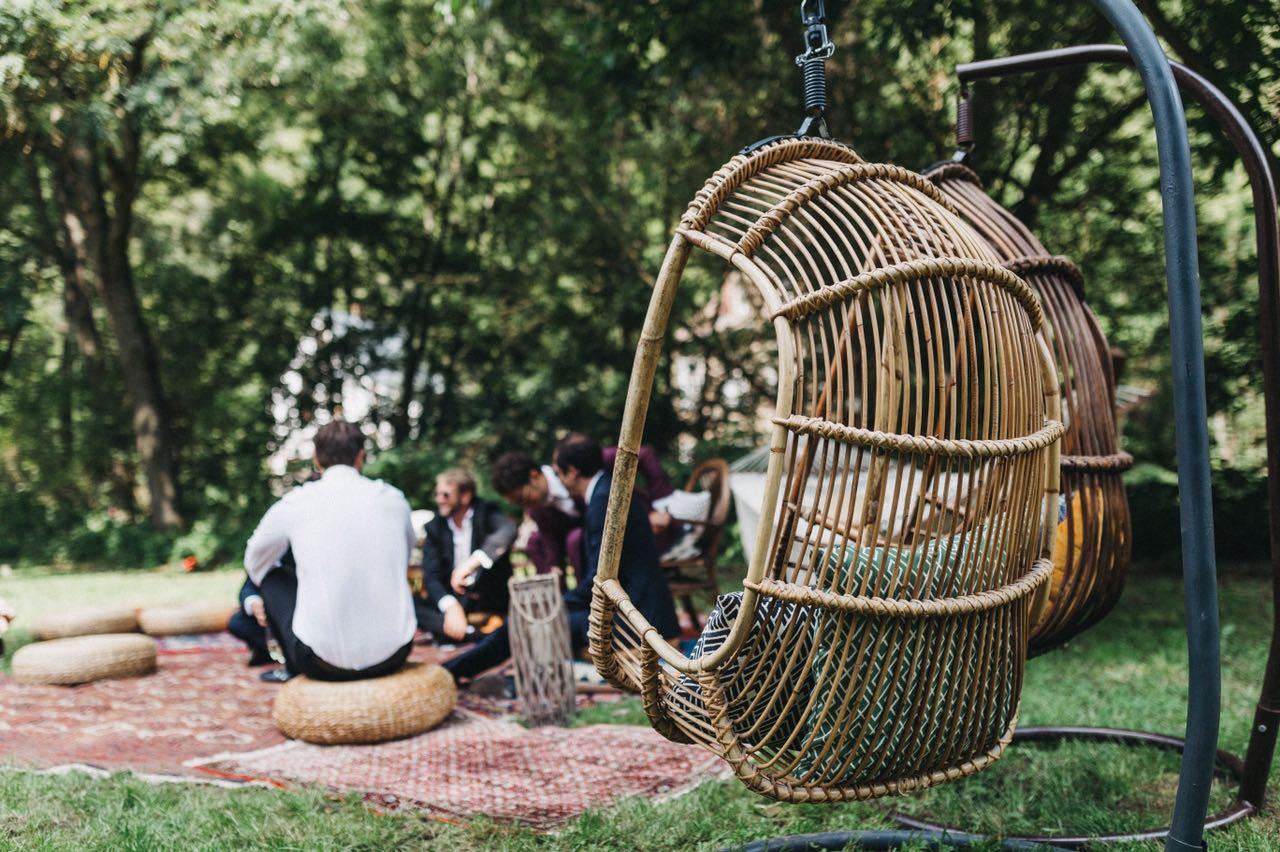 Moebelverleih Hochzeit NimmPlatz Haengesessel Boho hochzeit