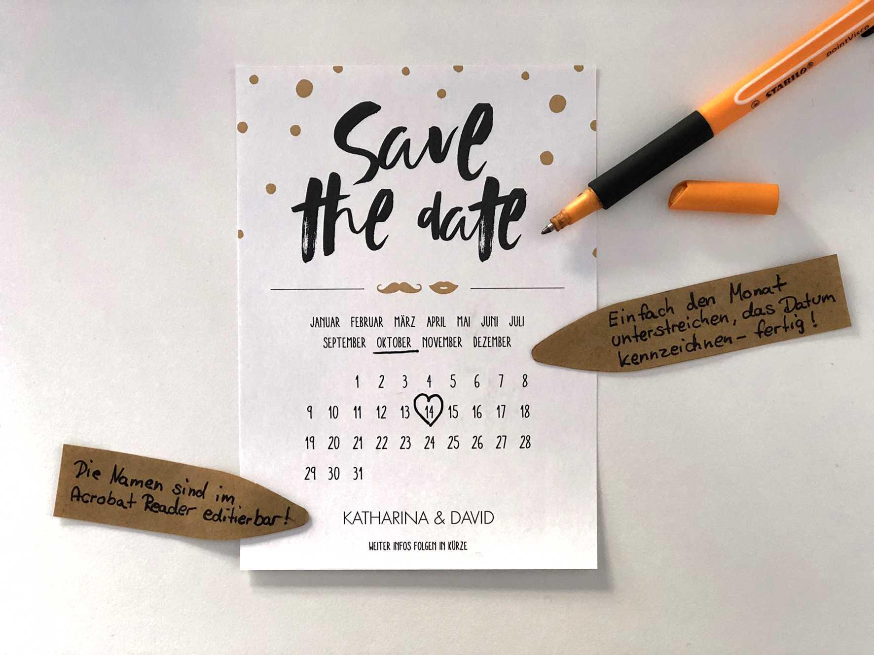 Hochzeitspapeterie liebelein will Save the Date Karte 05 – gesehen bei frauimmer-herrewig.de