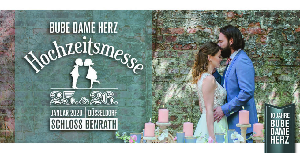 Hochzeitsmesse Bube Dame Herz Flyer