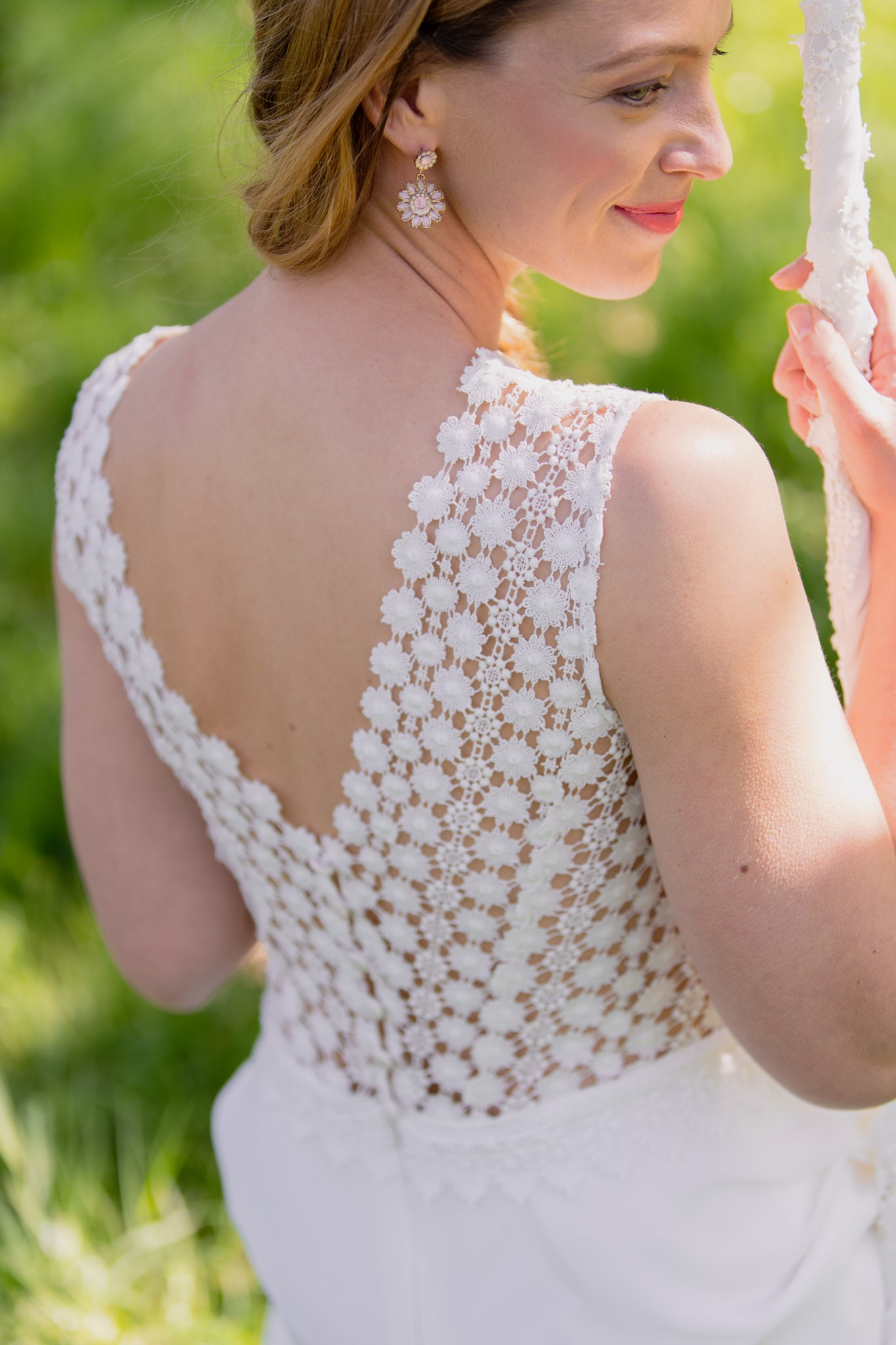 Claudia Heller Modedesign kurzes Brautkleid Daisy 6 min – gesehen bei frauimmer-herrewig.de