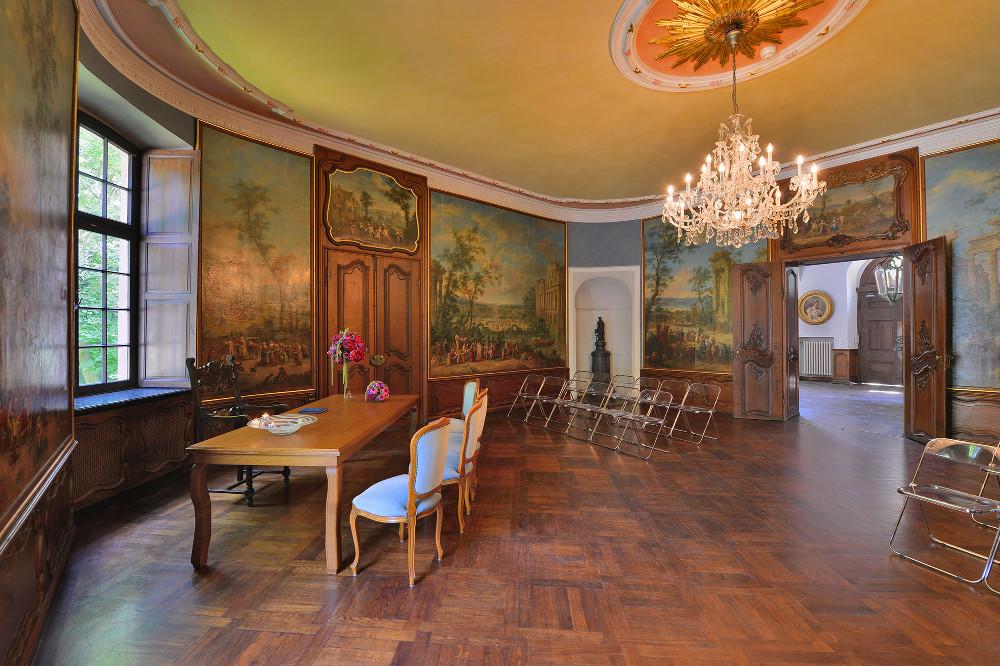 Trauung in Schloss Wahns Trauzimmer – gesehen bei frauimmer-herrewig.de