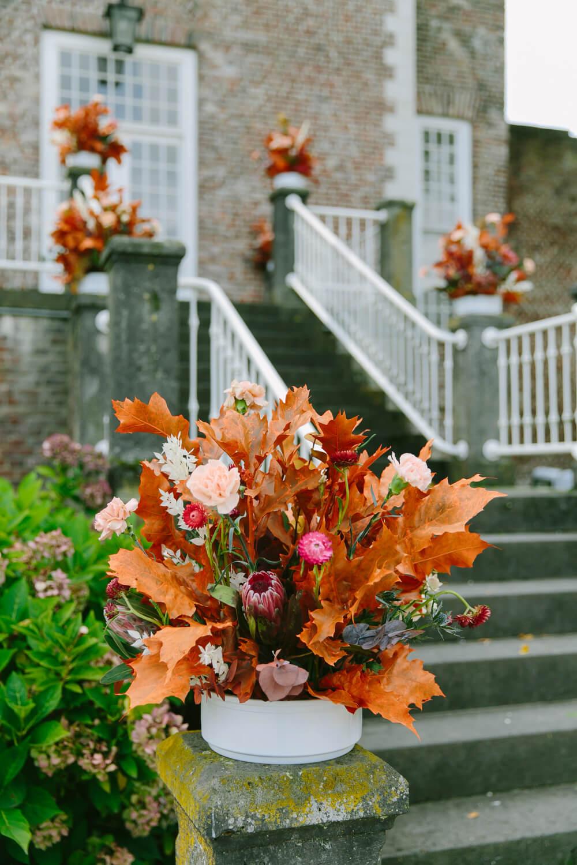 Herbstliche Hochzeitsdeko – gesehen bei frauimmer-herrewig.de