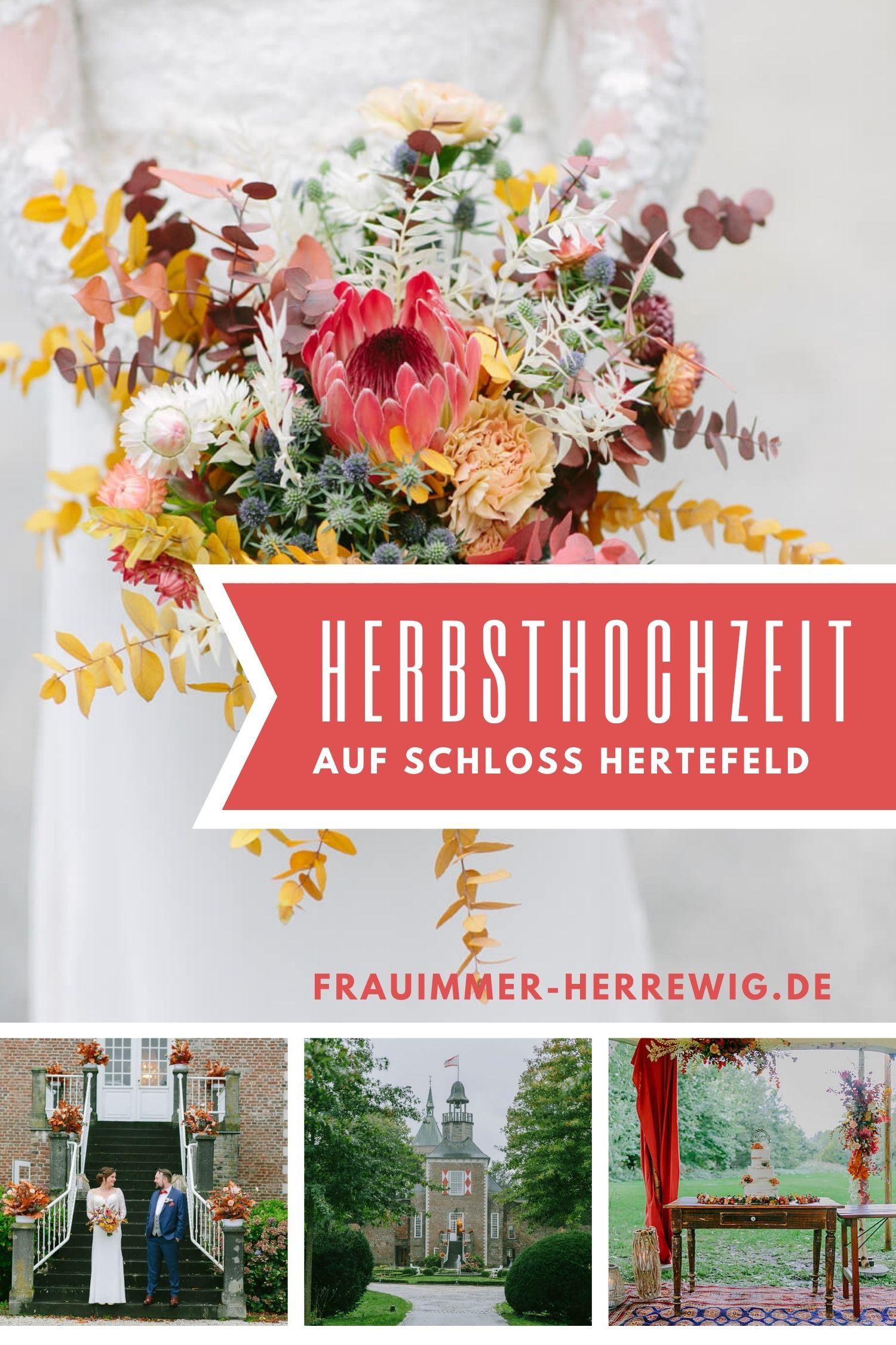 Herbsthochzeit schloss hertefeld – gesehen bei frauimmer-herrewig.de