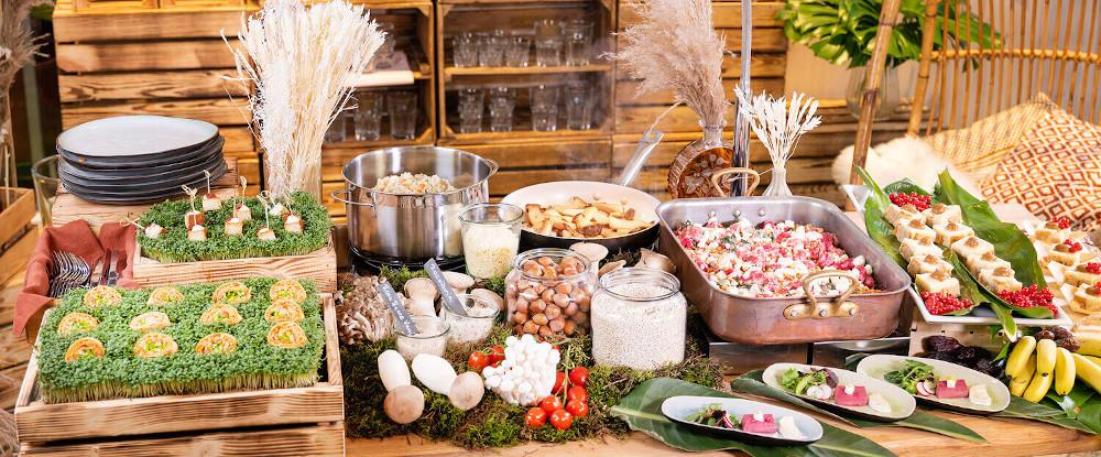 Vegetarisches Hochzeitsbuffet – gesehen bei frauimmer-herrewig.de