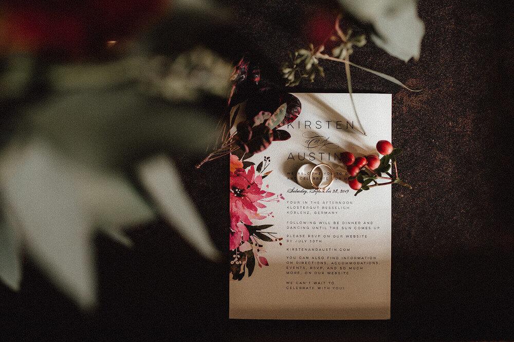 florale Hochzeitspapeterie – gesehen bei frauimmer-herrewig.de
