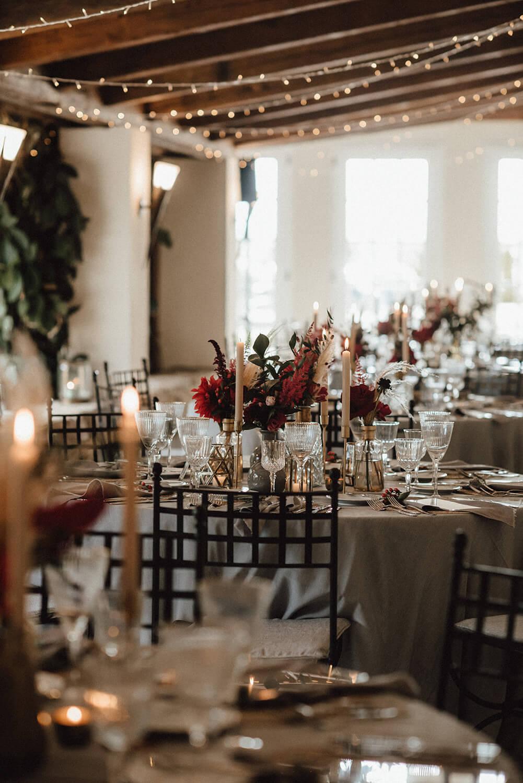 Romantische Tischdeko Hochzeit – gesehen bei frauimmer-herrewig.de