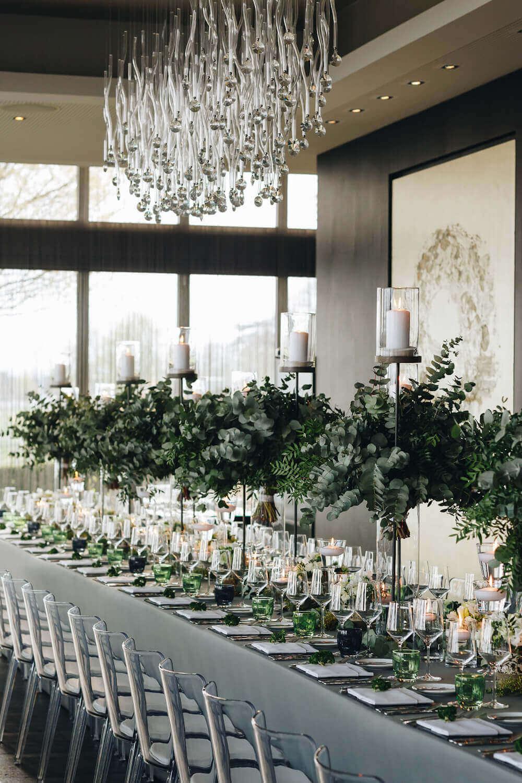Elegante Tischdeko für die Petersilien Hochzeit – gesehen bei frauimmer-herrewig.de