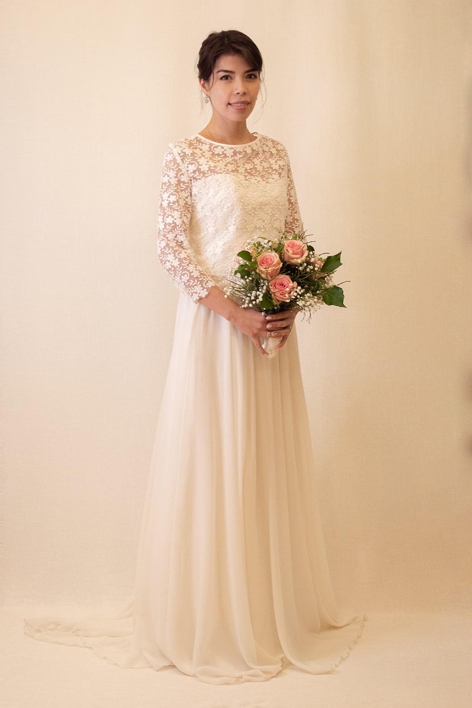Maßgefertigtes Brautkleid aus Köln – gesehen bei frauimmer-herrewig.de