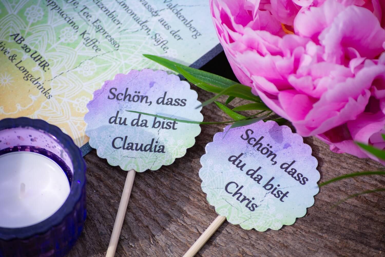 Bunte Hochzeitspapeterie – gesehen bei frauimmer-herrewig.de