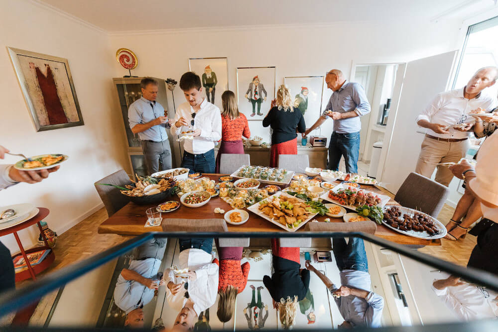Catering Hochzeitsfeier – gesehen bei frauimmer-herrewig.de