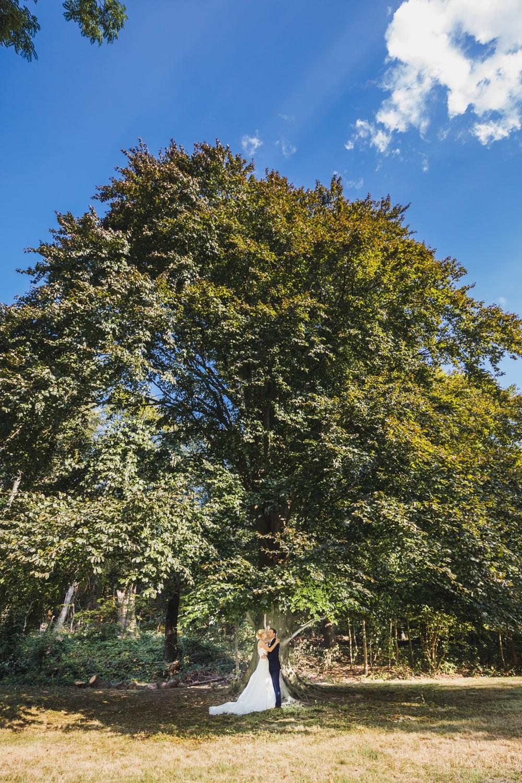 Hochzeitsfotoshooting unter großem Baum – gesehen bei frauimmer-herrewig.de